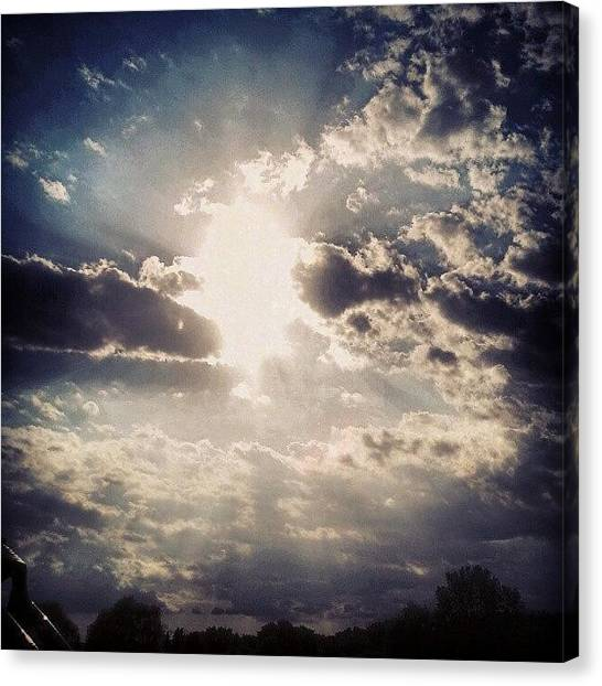 God Canvas Print - #when In #doubt #look To The #sky #for by Gina Marie