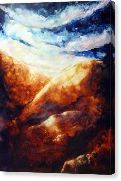 When Sorrow Is A Mountain Canvas Print