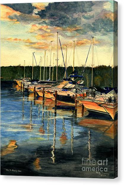 Carribbean Canvas Print - When The Evening Come by Melly Terpening