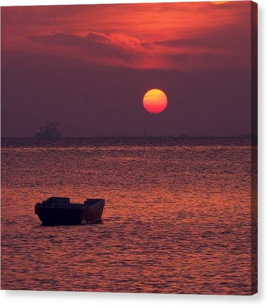 Ocean Sunsets Canvas Print - When The Sun Has Set, No Candle Can by Lord Rul