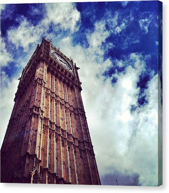 Parliament Canvas Print - When You're This Big They Call You by Walied A