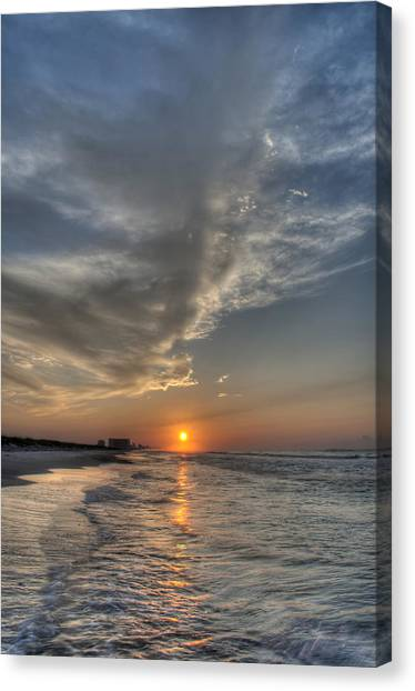 Where The Heavens Meet The Sea Canvas Print