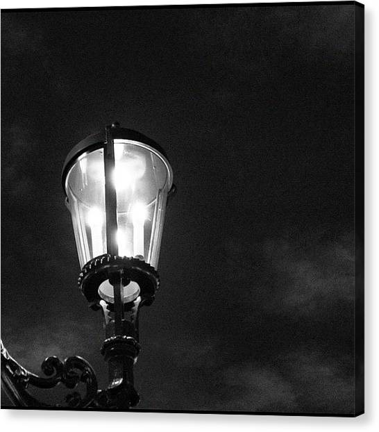 Om Canvas Print - Where There Is Light! #light #lamp by Om Bhatia