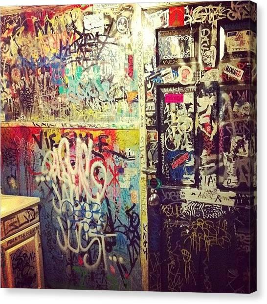 Graffiti Walls Canvas Print - Where Unicorns Go To Die by Jason Ogle