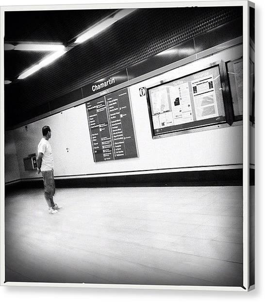 London Tube Canvas Print - Where We Go? #inthesubway #metro by Geovanny Ardila