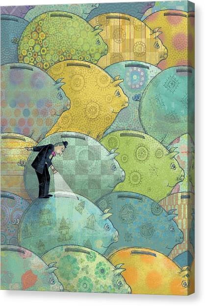 Where's The Money? Canvas Print by Dennis Wunsch