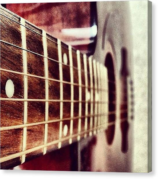 Guitars Canvas Print - While My #guitar Gently #weeps by Manan Shah
