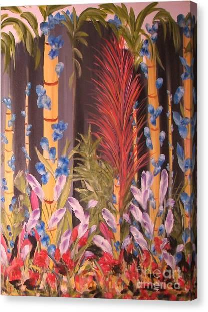 Whimsical  Bamboo Canvas Print