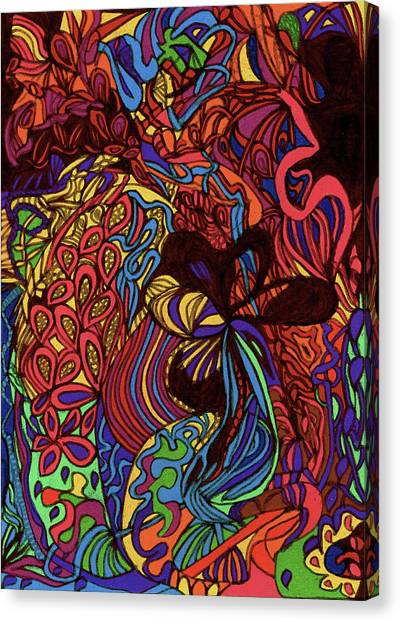 Whimsically Searching Canvas Print by Janice Lee