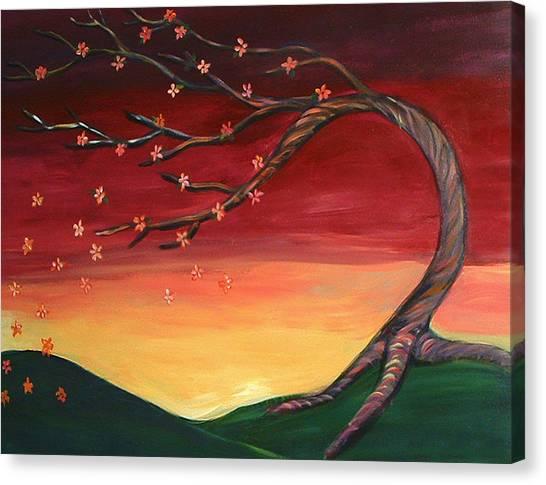Whispering Autumn Tree Canvas Print by Astrid Padilla