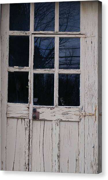 White Door Canvas Print by Margaret Steinmeyer