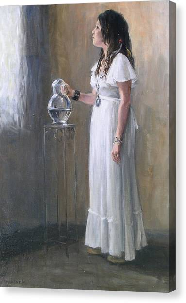 White Dress Canvas Print