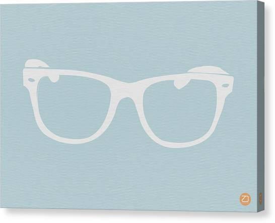 Sun Canvas Print - White Glasses by Naxart Studio
