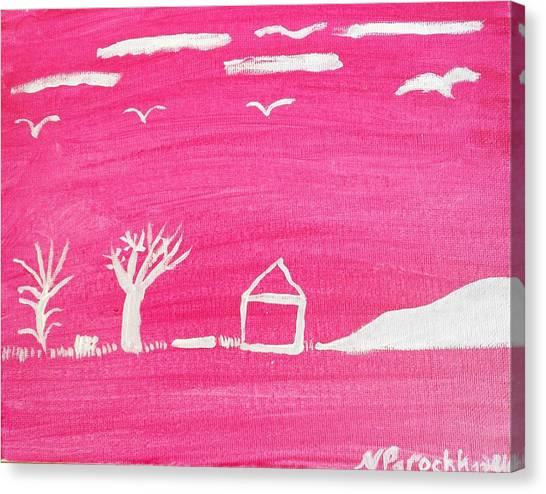 White Hill Canvas Print