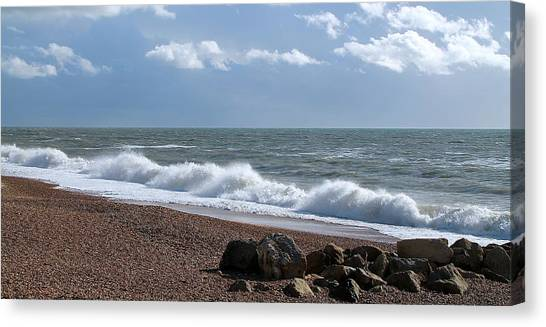 White Horses Canvas Print by Karen Grist