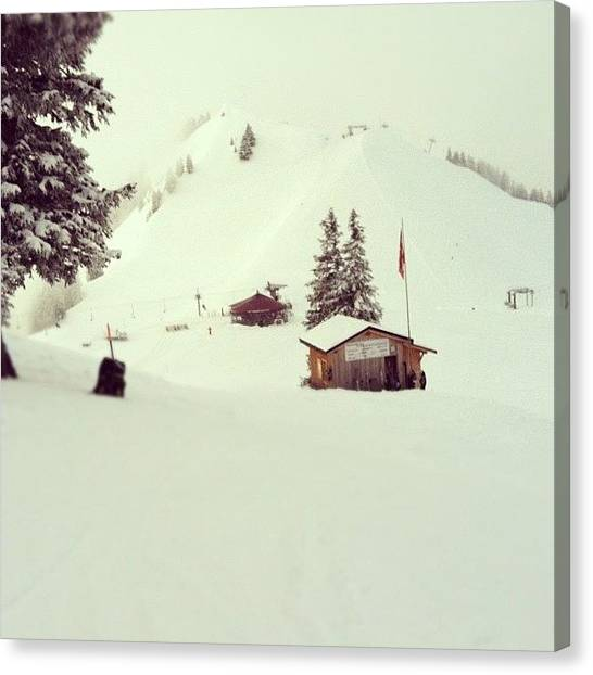 Swiss Canvas Print - White Paradise by Marce HH