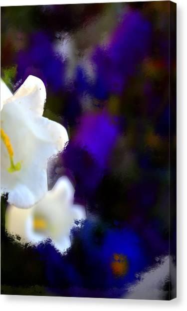 White Purple Canvas Print