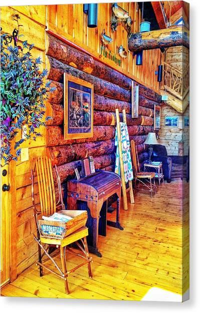 White River Lodge Canvas Print by John Derby
