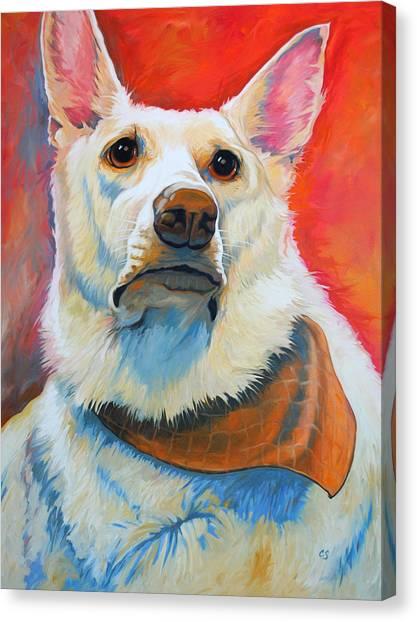 White Shepherd Canvas Print