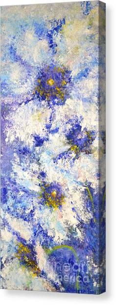 White Wild Roses Canvas Print