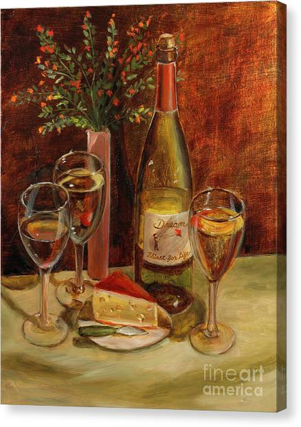 White Wine-dreams Canvas Print