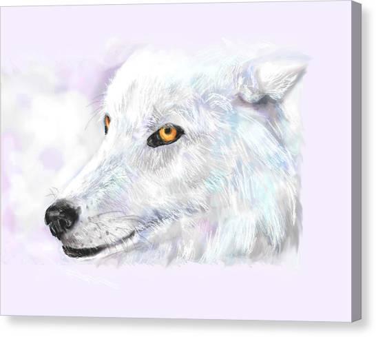 White Wolf Canvas Print by Lakota Phillips