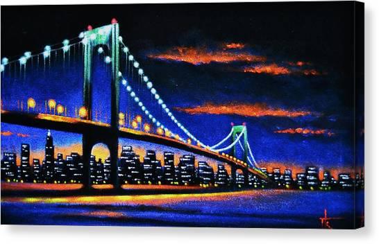 Whitestone Bridge 2 Sold Canvas Print