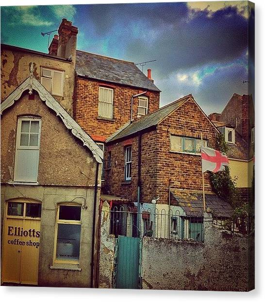Flags Canvas Print - #whitstable #seaside #kent #england by Samuel Gunnell