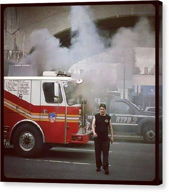 Firefighters Canvas Print - who Do You Call When The Fire Truck by Sacred Urban