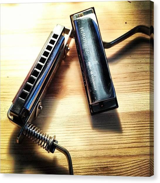 Harmonicas Canvas Print - Who Wants To Jam? #harp #harmonica by John Bell