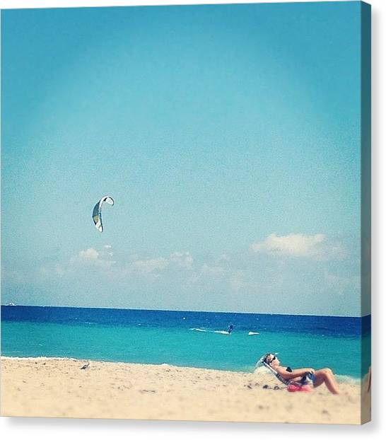 Seagulls Canvas Print - Who Wouldn't Love This.. #beach #ocean by Emily W