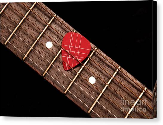 Guitar Picks Canvas Print - Why Pick On Me by Andee Design