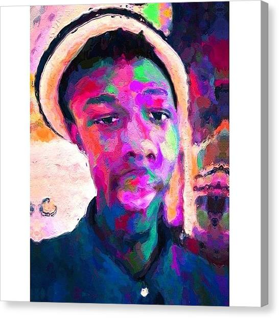 Fauvism Canvas Print - Why The Long Face? #art #painting by Aaron Moses