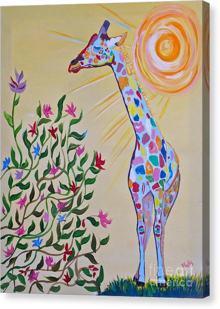 Wild And Crazy Giraffe Canvas Print
