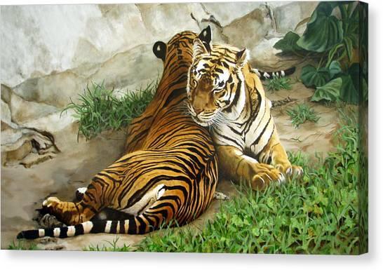 Wild Content Canvas Print