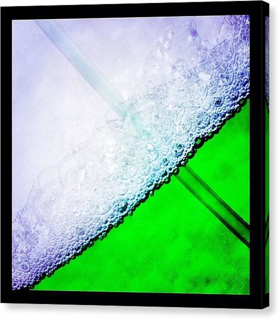 Green Canvas Print - Wild Green Fiendy Liquid by Mark B