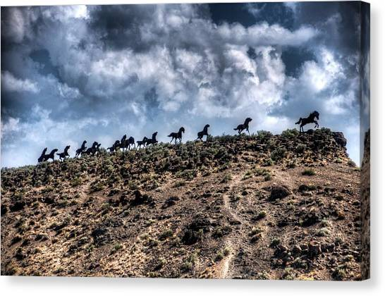 Wild Horses Monument Canvas Print