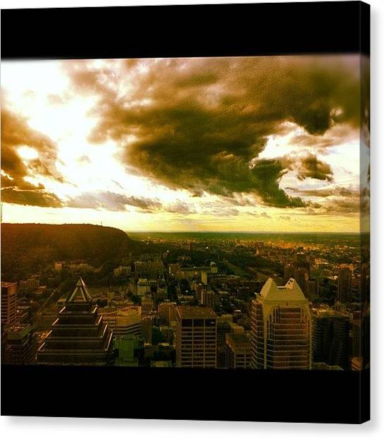 Quebec Canvas Print - Wild Skies In Montreal by Candice Walsh