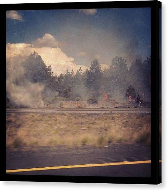 Interstates Canvas Print - Wildfire Season by Dave Moore
