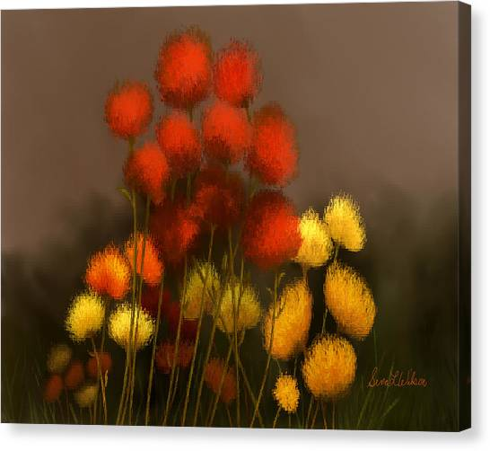 Wildflowers In Symphony Canvas Print