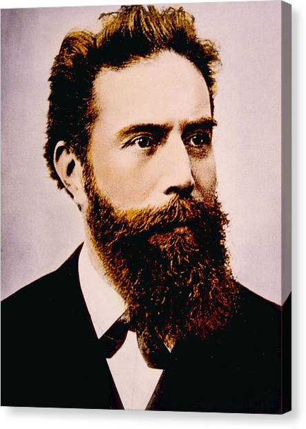 Wilhelm Conrad Rontgen 1845-1923 Canvas Print by Everett