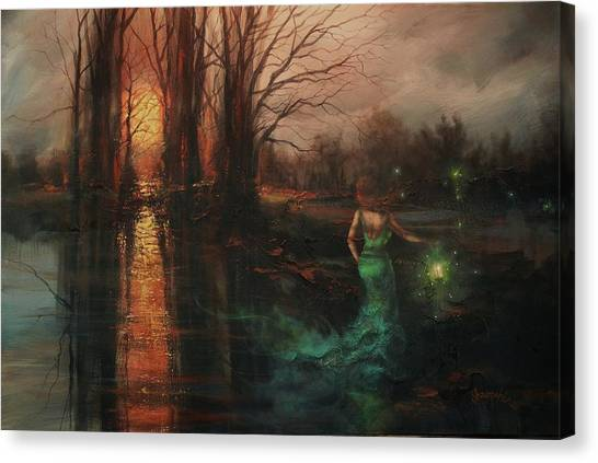 Apparition Canvas Print - Will-o-the-wisp by Tom Shropshire