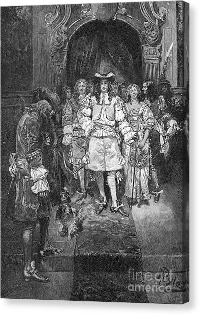 Royal Colony Canvas Print - William Penn And Charles II by Granger