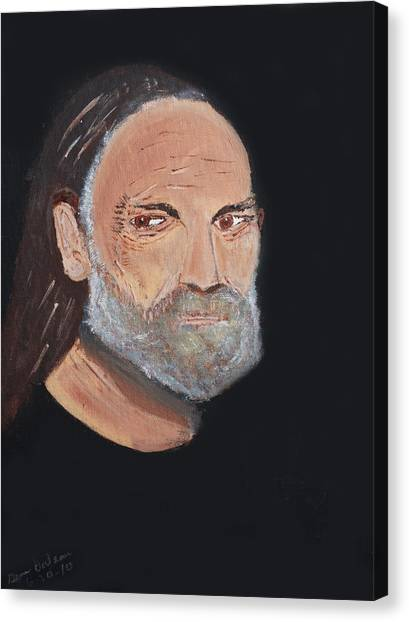 Willie Nelson In Black Canvas Print