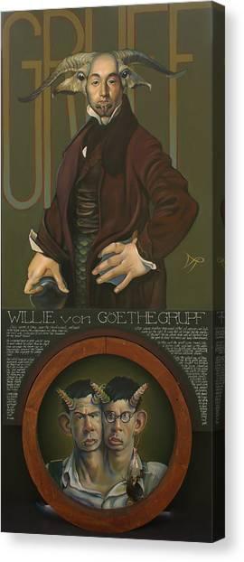 Yaks Canvas Print - Willie Von Goethegrupf by Patrick Anthony Pierson