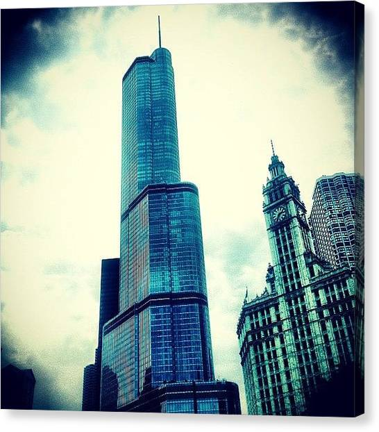 Superhero Canvas Print - Willis Tower In #chicago by The Fun Enthusiast