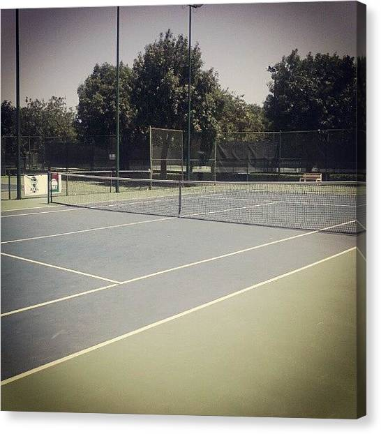 Tennis Ball Canvas Print - Win by Jerry Tamez