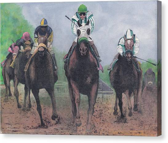 Win Place And Show Canvas Print