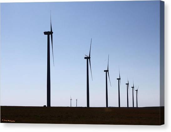 Wind Farm Canvas Print by Leroy McLaughlin