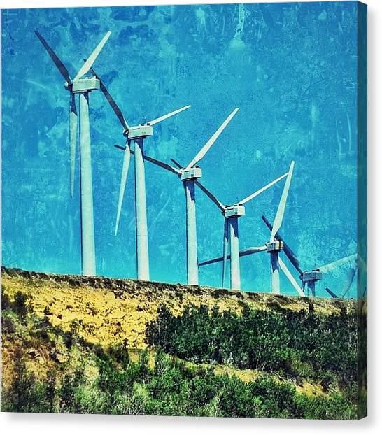 Wyoming Canvas Print - Wind Farm Outside Laramie, Wyoming by Chris Bechard